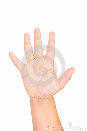Free Isolated Boy Hand Shows Stock Images - 41298664