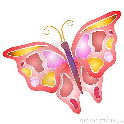Isolated Butterfly Clip Art 4 Royalty Free Stock Photos - Image ...