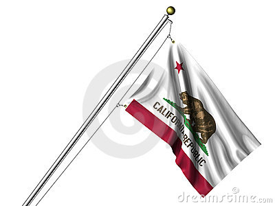 Isolated California Flag