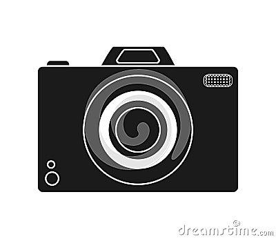 Isolated camera device design Cartoon Illustration