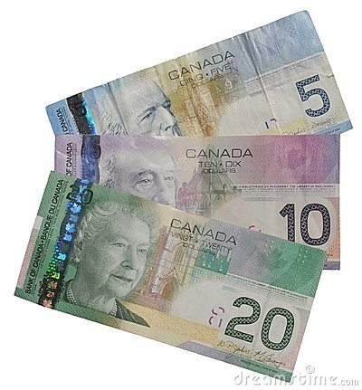 Free Isolated Canadian Money Stock Photo - 15091060