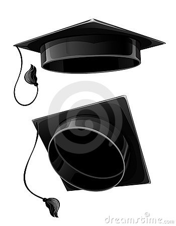 Isolated  cap of university student