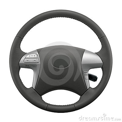 Free Isolated Car Steering Wheel Stock Photography - 11491802