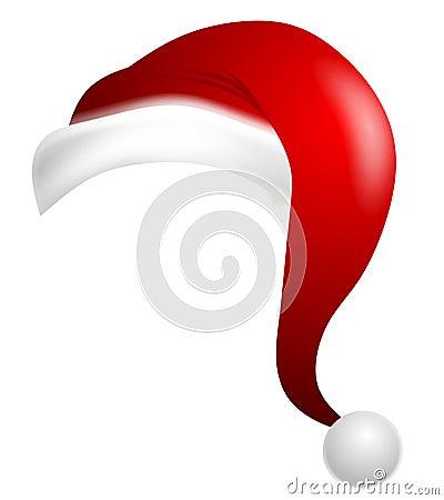 Isolated Cartoon Santa Claus Hat