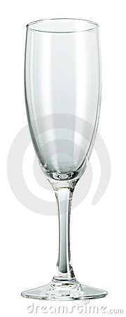 Isolated champagne glass clear