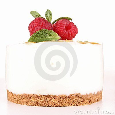 Isolated cheesecake