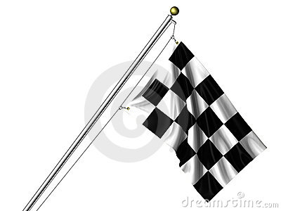 Isolated Chequered Flag