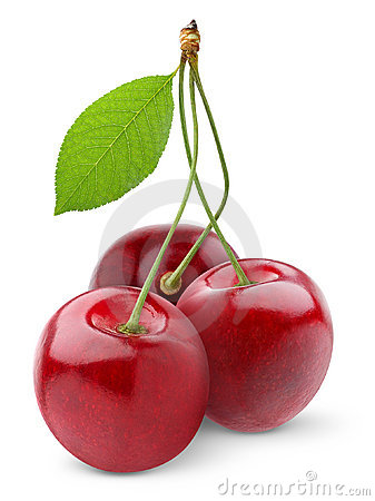 Free Isolated Cherries Royalty Free Stock Image - 16211286