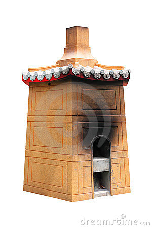 Isolated Chinese Furnace