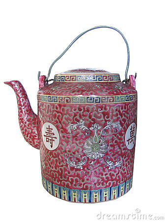 Isolated chinese teapot