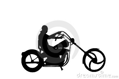 Isolated chopper biker vector