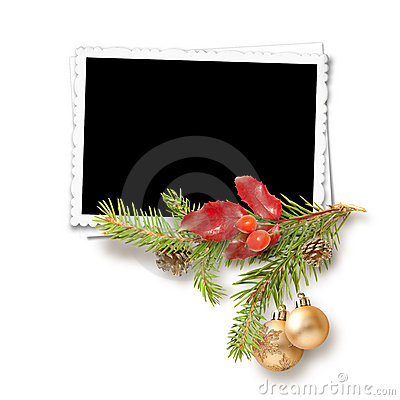 Isolated Christmas frame