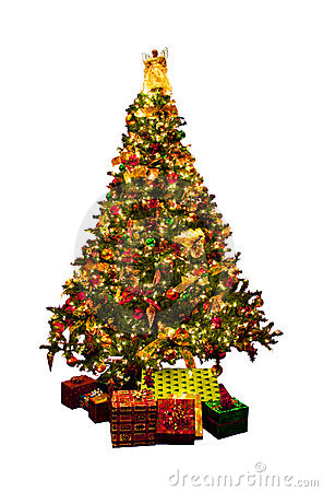Free Isolated Christmas Tree Royalty Free Stock Photography - 3188937