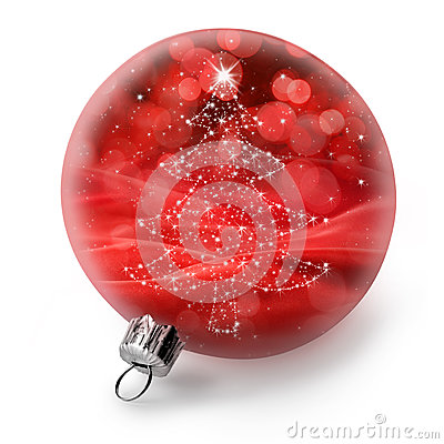 Free Isolated Christmas Tree Ornament Royalty Free Stock Photos - 46362728