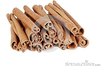 Isolated cinnamon sticks
