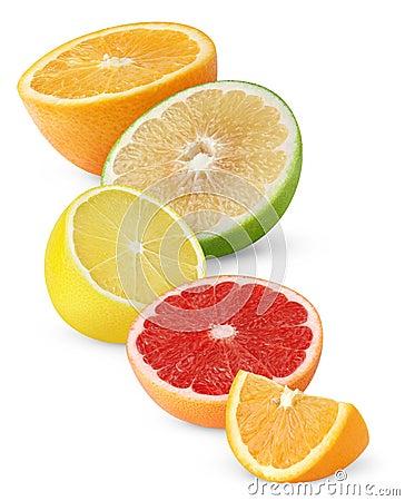 Free Isolated Citrus Fruit Halves Stock Photos - 17473563