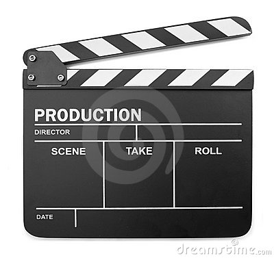 Isolated clapperboard