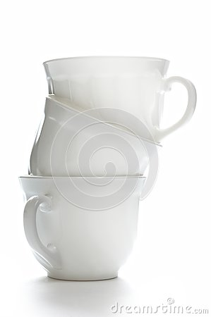 Isolated coffee cups