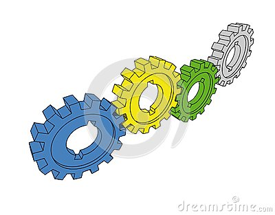 Isolated Cogwheels Royalty Free Stock Photos - Image: 5637788