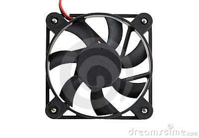 Isolated computer fan