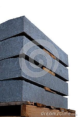 Isolated concrete panels