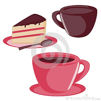 Isolated Cup And Cake Set Royalty Free Stock Photo - Image ...