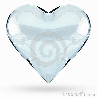 Isolated 3D glass heart