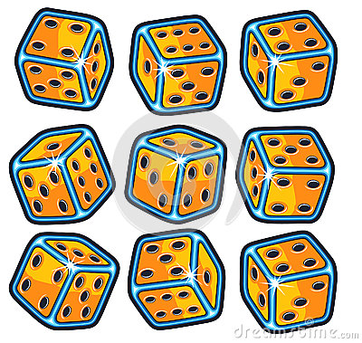 Isolated Dice set