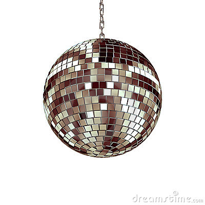 Isolated disco ball