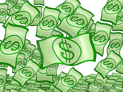 Isolated Dollars fall