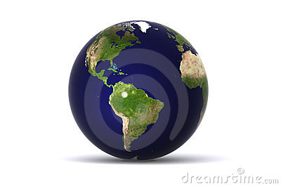 Isolated Earth (america)