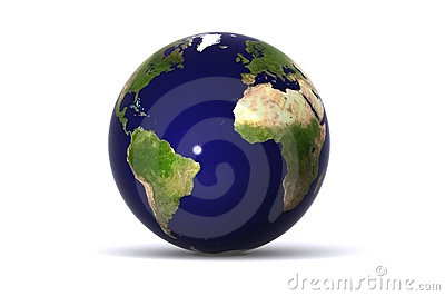 Isolated Earth (America / Europe)