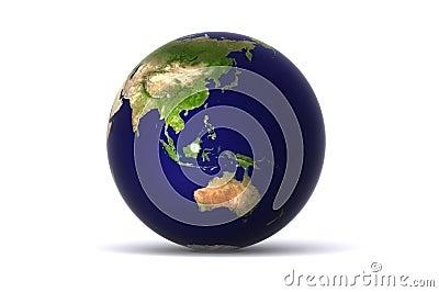 Isolated earth (australia)