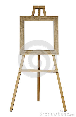 easel with frame isolated stock photos image 25454463