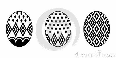 Isolated Easter Egg Stock Photo