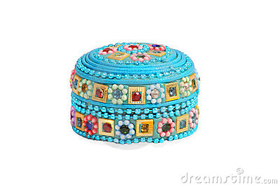 Isolated embroidered box