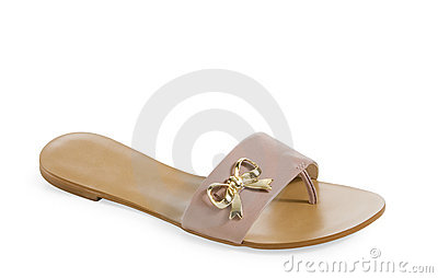 Isolated  female sandal