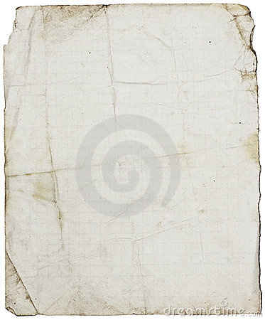Isolated fine-textured lined school paper