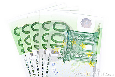 Isolated five hundred euros