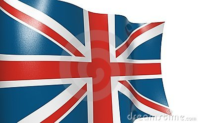 Isolated flag UK - Waving flag UK