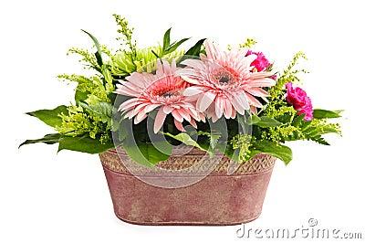Isolated flower arrangement