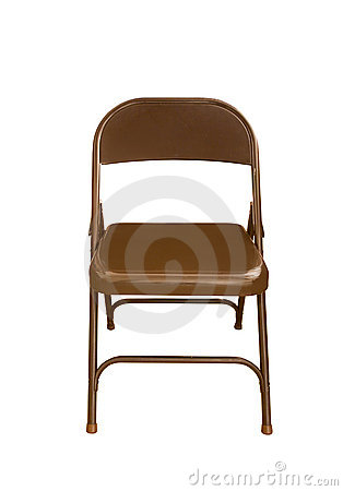 Isolated Folding Chair (clipping path)