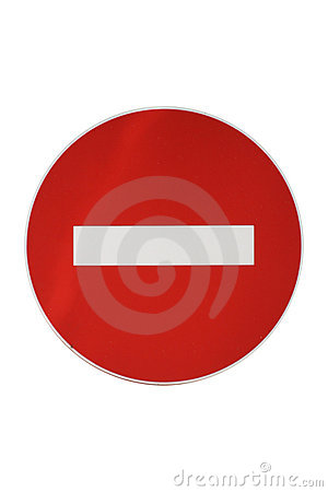 Isolated Forbidden Traffic Sign