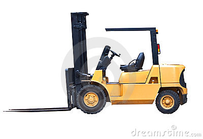 Isolated Fork Lift Truck