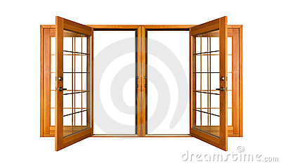 Isolated French Doors (clipping path)