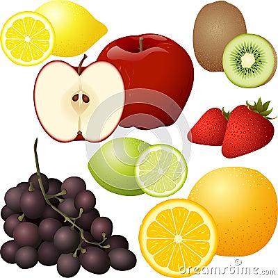 Free Isolated Fruit Set Royalty Free Stock Photo - 25366895