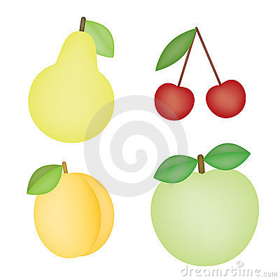 Isolated fruits