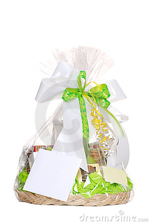Free Isolated Gift Basket Royalty Free Stock Image - 9415086