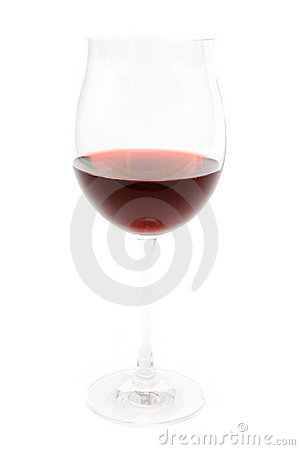 Isolated Glass of Wine