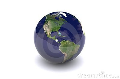 Isolated Globe (America)